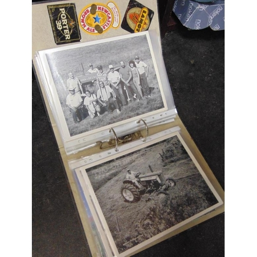 37 - Collection of vintage tractor photographs, etc....
