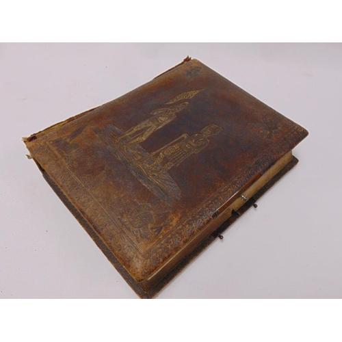 33 - Antique leather bound musical photograph album - The British Army Album.