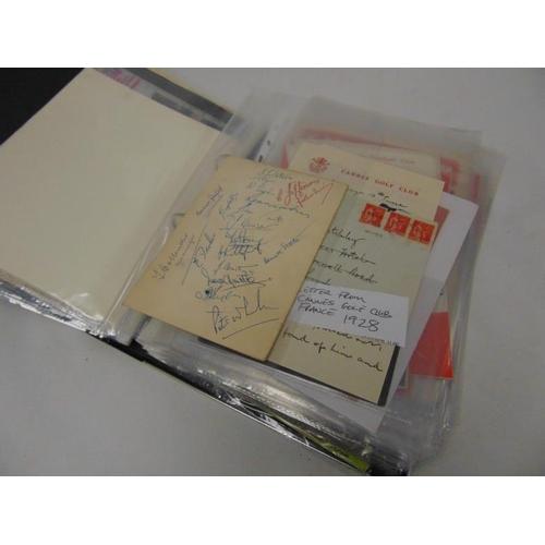 37 - Album of football programmes and ephemera, to include Dulwich Hamlet v London Caledonians 1935, Bill...