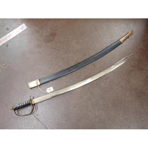 38 - Reproduction sabre with scabbard,