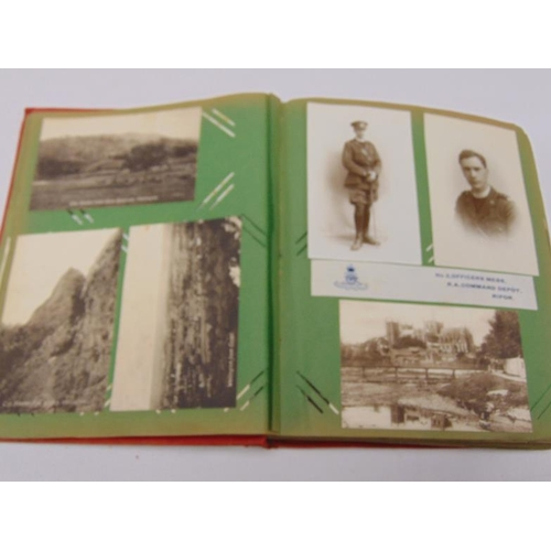 41 - Album of photographs and postcards from WW1 / 1920's.