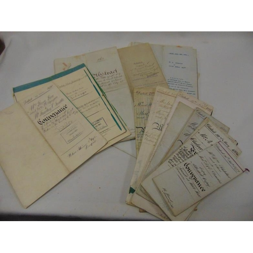42 - Collection of 19th / early 20th century deeds, relating to Wirral, Tranmere etc.