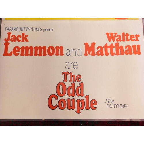 27 - An original 1960s film poster, for the movie The Odd Couple, staring Jack Lemmon and Walter Matthau,...