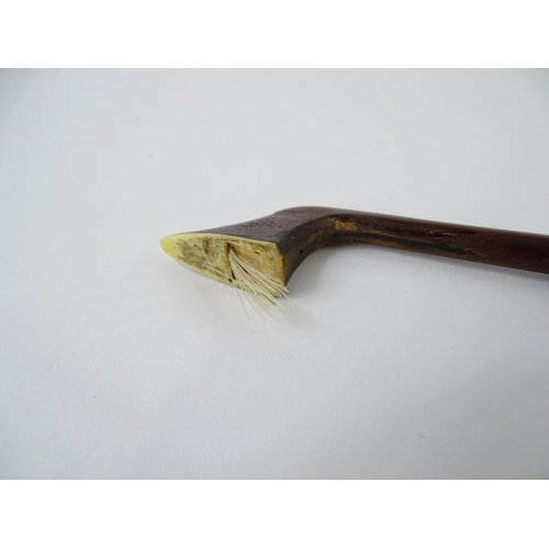 30 - A cello bow, stamped Tourte, with ebony frog etc., 72cm L....