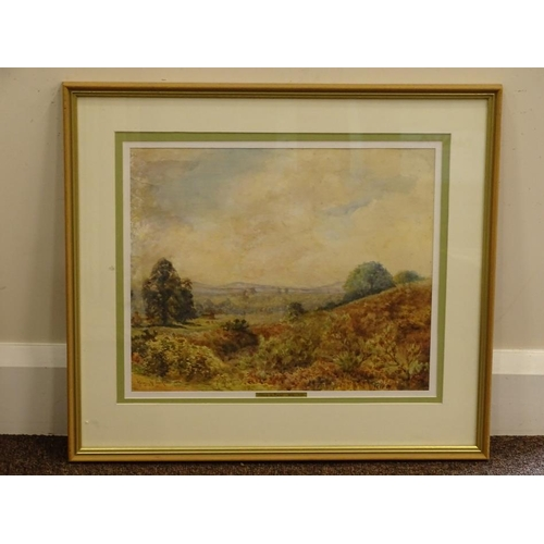 33 - Henry H Parker (1858-1930). Country landscape, watercolour, signed and dated 1892, 30.5cm x 36cm....