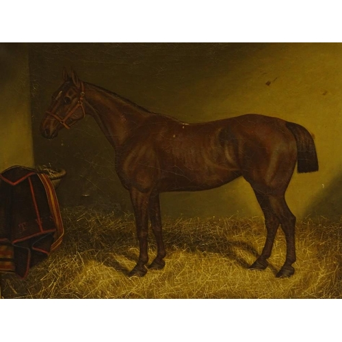 9 - T.W.S. (19thC). Gipsy, oil on canvas, initialled, 49.5cm x 59.5cm....