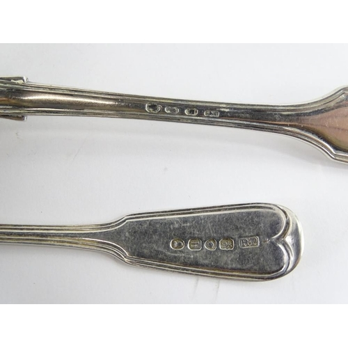20 - A collection of 19thC fiddle and thread pattern spoons, various date, 15¼oz overall....