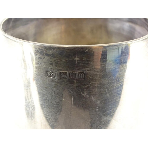 29 - An Edwardian silver goblet shaped cup, engraved Lincolnshire Gardeners Association 'Hobson Challenge...