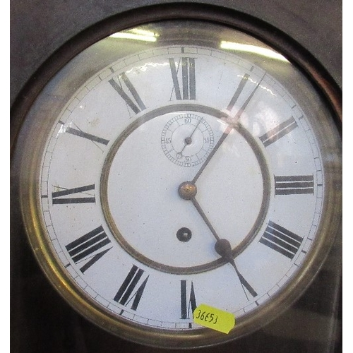 15 - A Vienna style wall clock, height 46ins