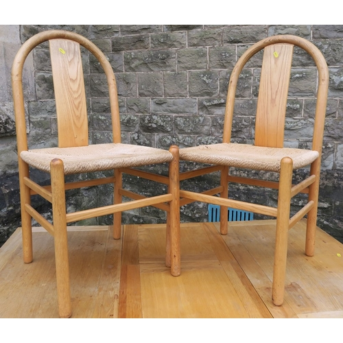 2 - A 20th century drawer leaf dining table, together with a set of four dining chairs