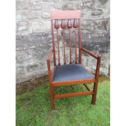 1 - An Art Nouveau tulip back chair