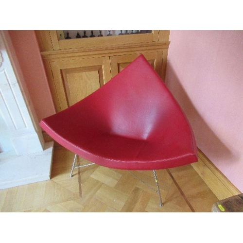 21 - Red leather Vitra