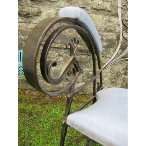 3 - The Peacock Chair - a wrought iron rocking chair by Derek Lloyd FWCB