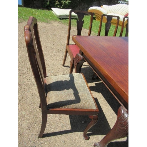 34 - A Regency style mahogany extending dining table, reputed to have come from the Waring family of Wari...