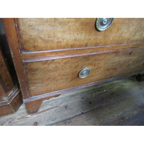 37 - A 19th century mahogany chest of drawers, having four graduated long drawers, width 39.5ins