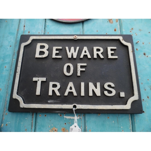 36 - Beware Of Trains Sign (H)...