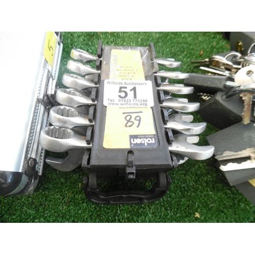 51 - Stubby Spanner Set (H68)...
