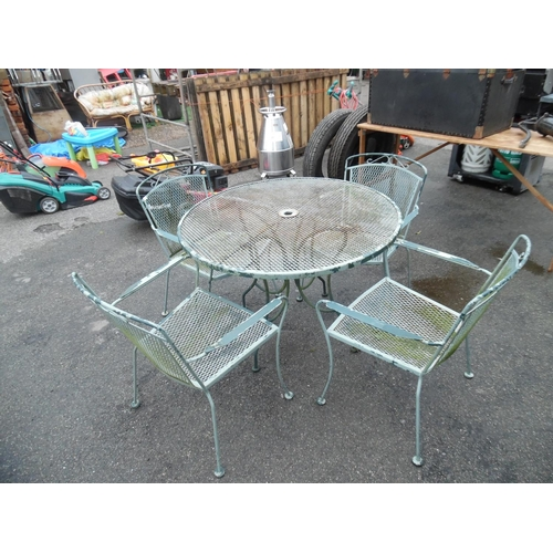 17 - Garden table & 4 chairs...