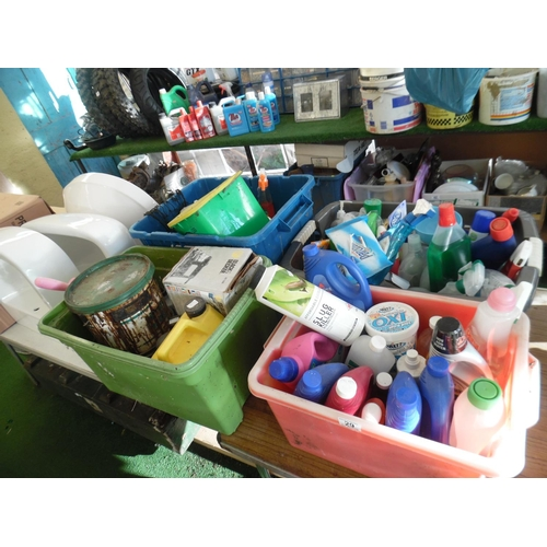 29 - LQ cleaning products etc...