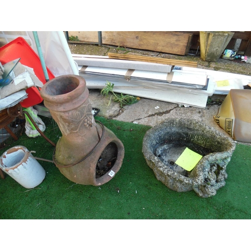 45 - Chimnea & planter...