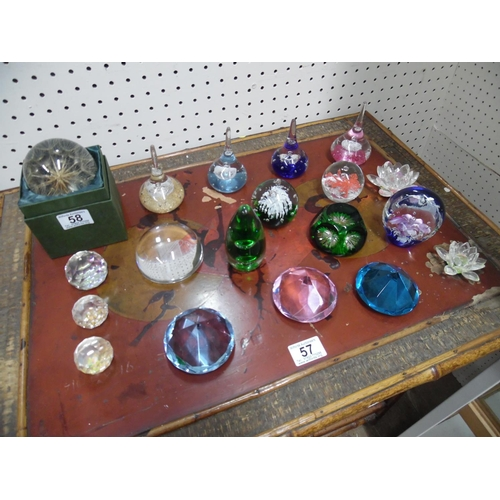 58 - Assorted paperweights...