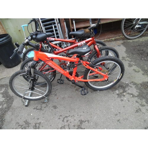 13 - Childs carrera front suspension bike...