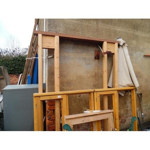 24 - Qty wooden window frames, door frames etc...