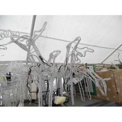 31 - Qty light up reindeer...