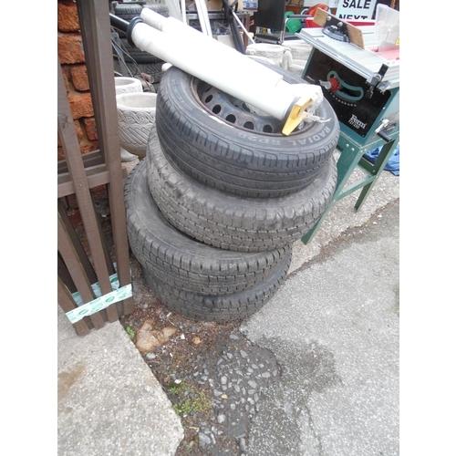 27 - Qty tyres & wheels...