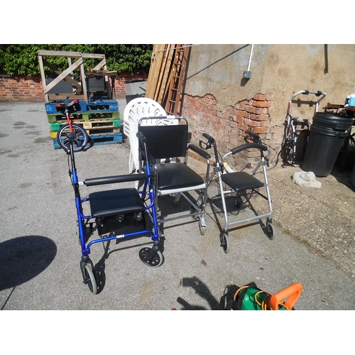 14 - 2 Mobility walkers & wheelchair...
