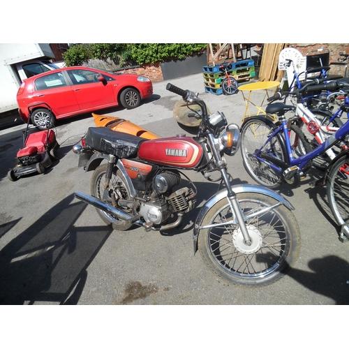 18 - Yamaha 100 1980's motorbike...