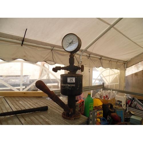25 - Armstrong pressure gauge...