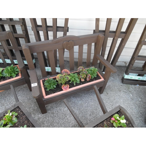 52 - Planted bench planter...