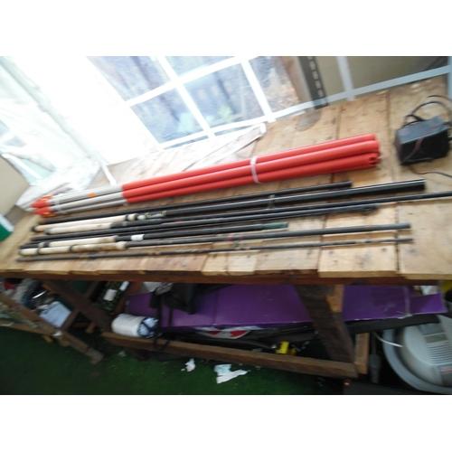38 - Qty fishing rods...
