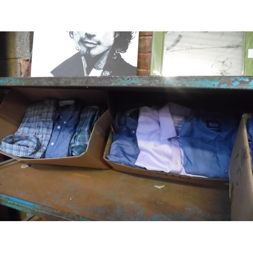 40 - 2 Boxes of assorted shirts...