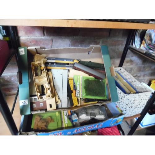45 - 3 Boxes of railway, accessories etc...