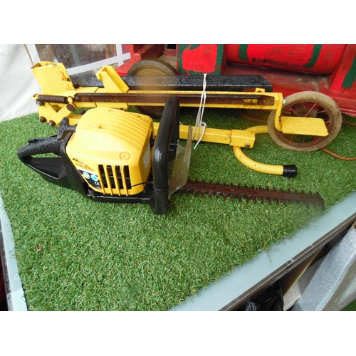 8 - McCulloch petrol hedge trimmer...