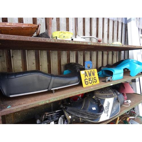 1 - Suzuki gs550 motorbike plastics, seat etc...