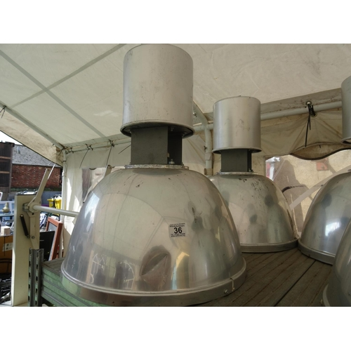 36 - 2 Industrial hanging lights...