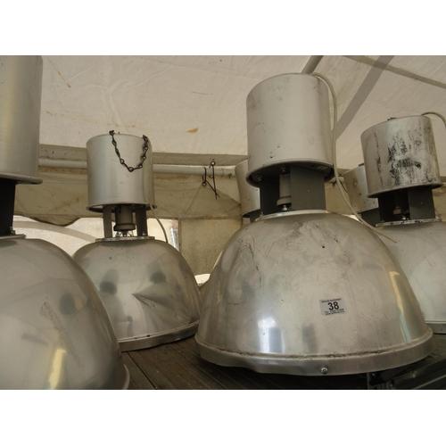 38 - 2 Industrial hanging lights...