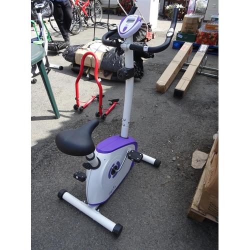 6 - White & purple opti exercise bike...