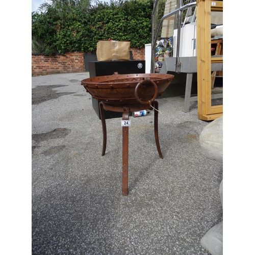 24 - (H 187) Small fire pit...
