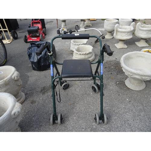 33 - 4 Wheel mobility walker...
