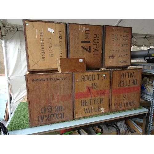 37 - LQ wooden tea crates...