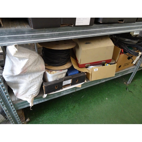 43 - Shelf of tools etc...