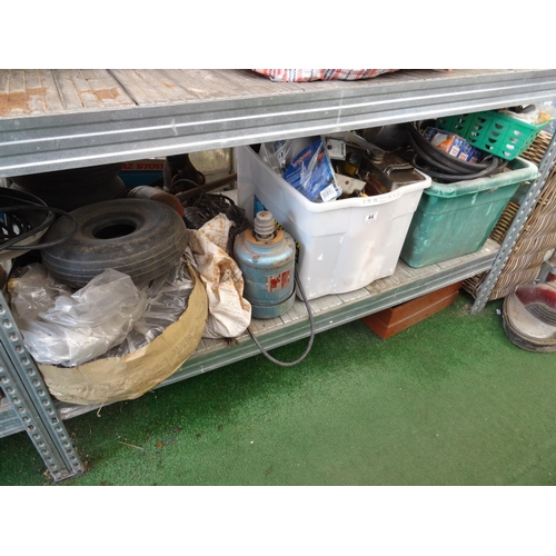 44 - Shelf plane tyres, parts etc...