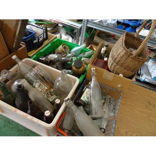 48 - Qty vintage & other glass bottles...