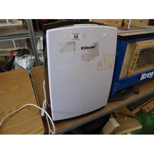 49 - Dimplex dehumidifier...