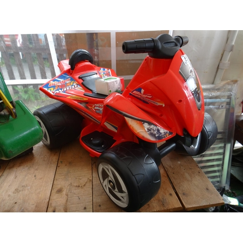 53 - Electric ride on kids quad with charger...
