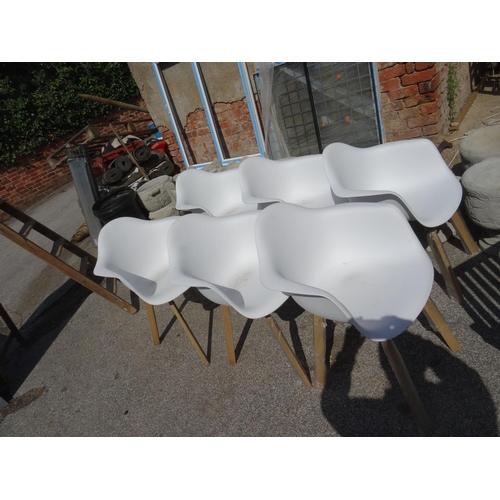 20 - Set 6 garden bucket chairs.